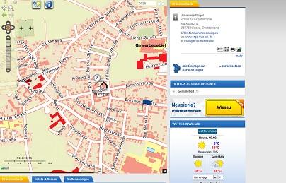 Stadtplannet ausschnitt